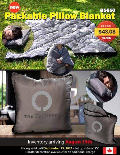 B5650 – Packable Pillow Blanket