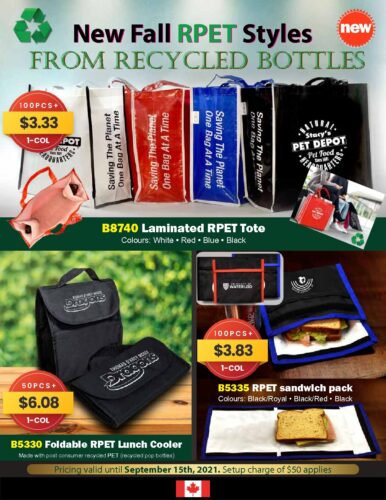 New Fall RPET Styles From Recycled Bottles